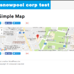 [Wordpress]SimpleMap プラグインで Google Map の表示